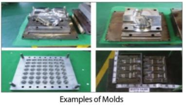 Examples of Molds, Examples of Parts Image